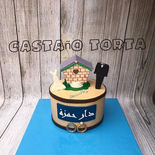 wedding birdhouse cake