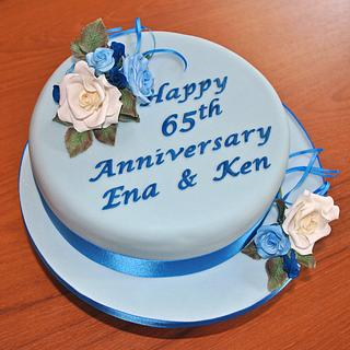 Sapphire Wedding Anniversary - Cake by Sylvania Cakes - Exeter