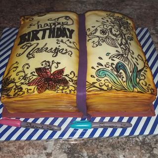 Adult coloring book - Cake by Tareli