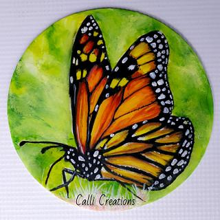 Butterfly painting demonstration  - Cake by Calli Creations