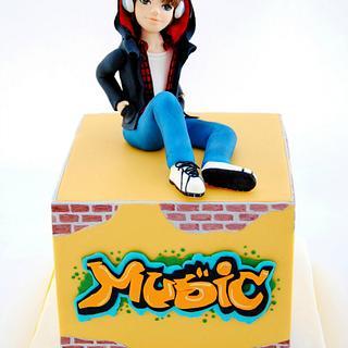 Grafitti Boy Cake