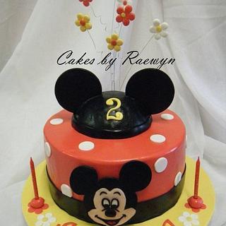 Amelias Mickey Mouse - Cake by Raewyn Read Cake Design