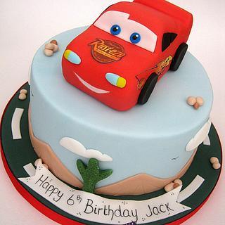 Lightning McQueen - Cars Cake - Cake by Sam Harrison