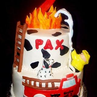 Little People Firefighter Cake