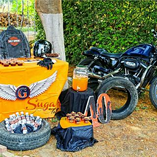 PDCA Caker Buddies Dessert Table Collaboration - Harley Davidson
