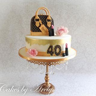 LV inspired cake - Cake by Cakes by Arelys