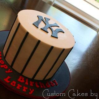YANKEES BIRTHDAY CAKE - Cake by Kendra