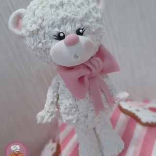 Cute teddy bear cake topper