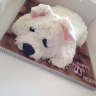 White West highland terrier for Moira's 70th