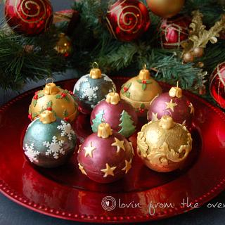 Chocolate Biscuit Cake Christmas Baubles - Cake by Lovin' From The Oven