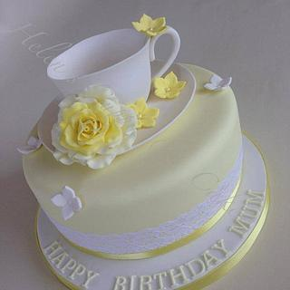 Afternoon Tea (Yellows) - Cake by Helen Allsopp