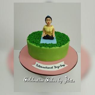 International Yoga Day cake