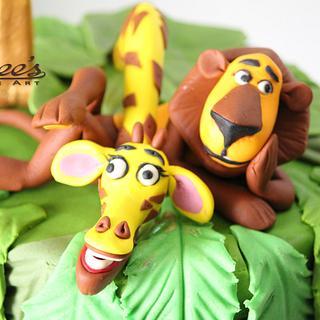 Madagascar Themed Cake - Cake by Purbaja B Chakraborty