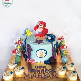 Little mermaid theme by CakeZania