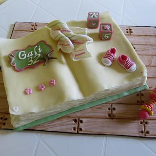 Open Book Cake - Cake by The Garden Baker