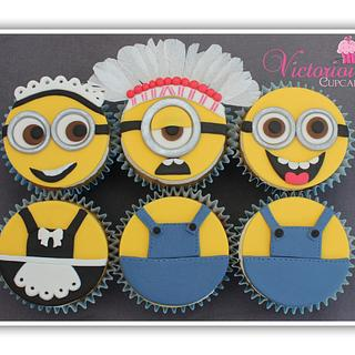 Minion Cupcakes - Cake by Victorious Cupcakes