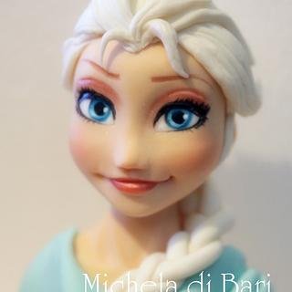 Elsa's Frozen face and link for tutorial ♥