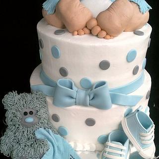 """Baby Rump"" Baby Shower Cake...It's a Boy! - Cake by Kristi"