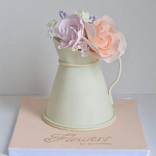 Flower jug cake