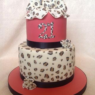 Mini two tier leopard print