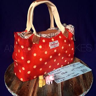 Cath Kidston bag cake - Cake by Anastasia Kaliazin