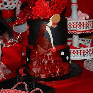 Flamenco Dancer Cake. - Cake by Dulce & Sweet designs