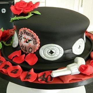 Guns & Roses cake