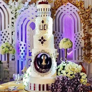 Classical wedding cake