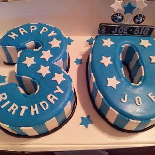 BMW Theme 30th Numeral Cake