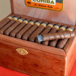 cuban cigars cake