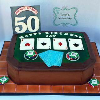 Texas hold em cake