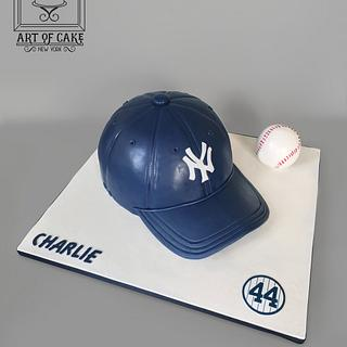 NY Yankees Baseball Cap Cake