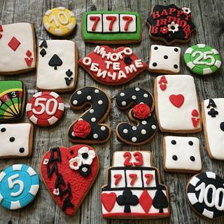 Casino cookies set