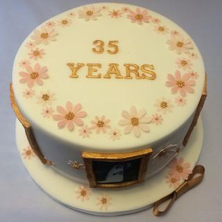 35th (coral) anniversary cake - Cake by Mulberry Cake Design