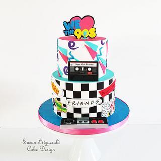 We Love the 90s Birthday Cake