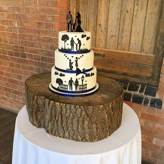 Silhouettes cake - Cake by Kayleigh's cake boutique