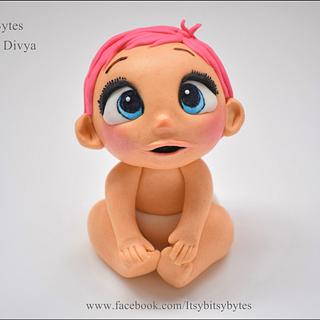 Baby from 'storks' movie made in fondant
