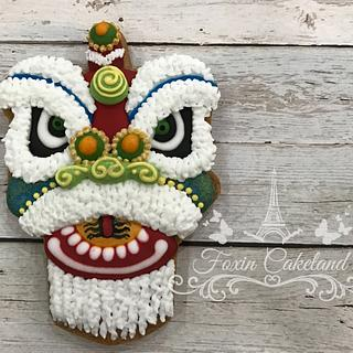 Lion Dance Relief Cookie