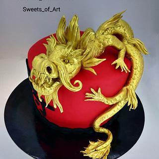 Japanese lucky dragon - Cake by Othonas Chatzidakis