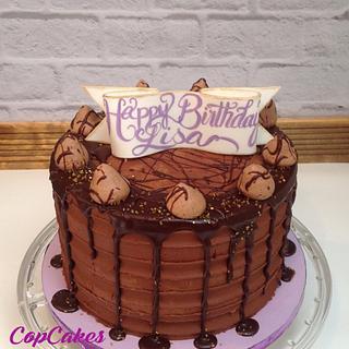 Chocolate birthday cake - Cake by CopCakes