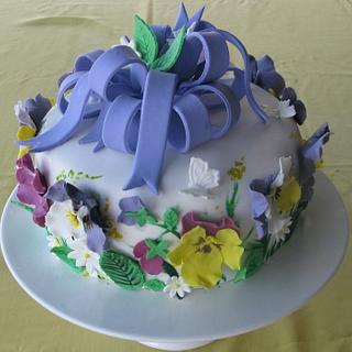 Pansy cake.