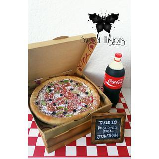 Pizza cake Coca Cola cake