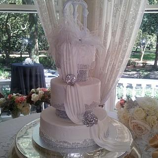 southern charm vintage wedding cake - Cake by Deborah