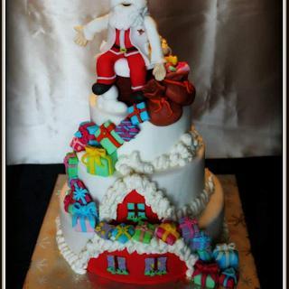 Christmas Cake - Cake by SugarClo