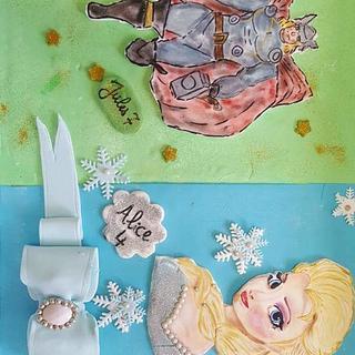 Elsa vs Thor cake