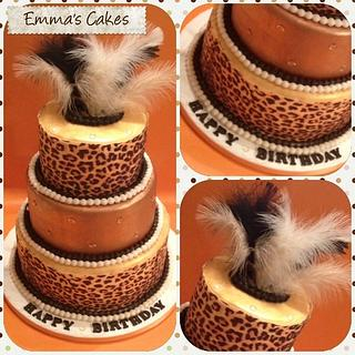 Leopard print cake - Cake by Emma's Cakes - Cakes for all occasions