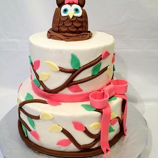 Owl First Birthday - Cake by Dawn Henderson