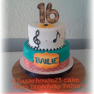musical sweet 16 - Cake by Robin Meyers