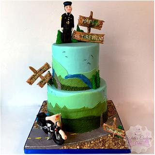 Retirement Cake - Cake by Sabrina - White's Custom Cakes