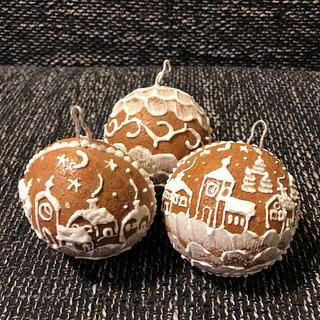 christmas gingerbread balls